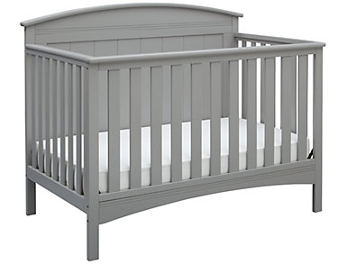 Archer Convertible Crib - Grey, , large