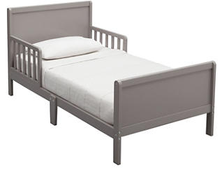 Fancy Wood Toddler Bed Grey, , large
