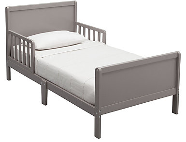 Fancy Wood Toddler Bed Grey, , large