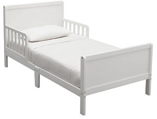 Fancy Wood Toddler Bed White, , large