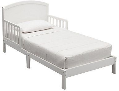 Abby Wood Toddler Bed White, , large