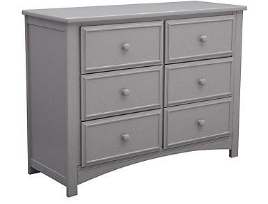 Delta 6 Drawer Dresser Grey, , large