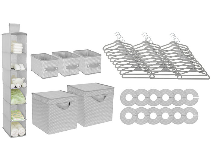 48 Piece Nursery Storage -Grey, , large
