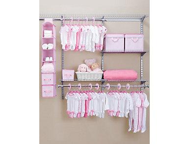 48 Piece Nursery Storage -Pink, , large