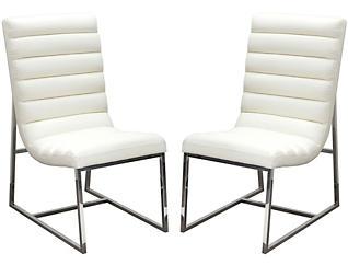 Bardot White Chair Set of 2, , large