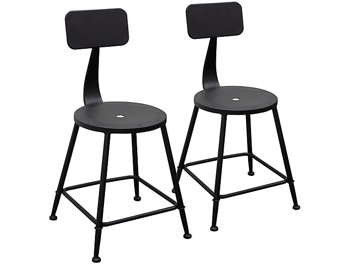 Outstanding Douglas Black Stools Set Of 2 Gmtry Best Dining Table And Chair Ideas Images Gmtryco