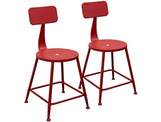 Douglas Red Stools Set of 2, , large