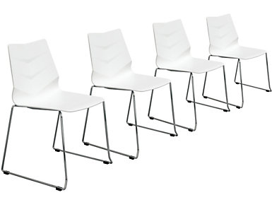 Leaf Chair (Set of 4), White, , large