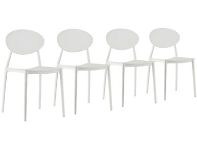 Pixel Chair (Set of 4), White, , large