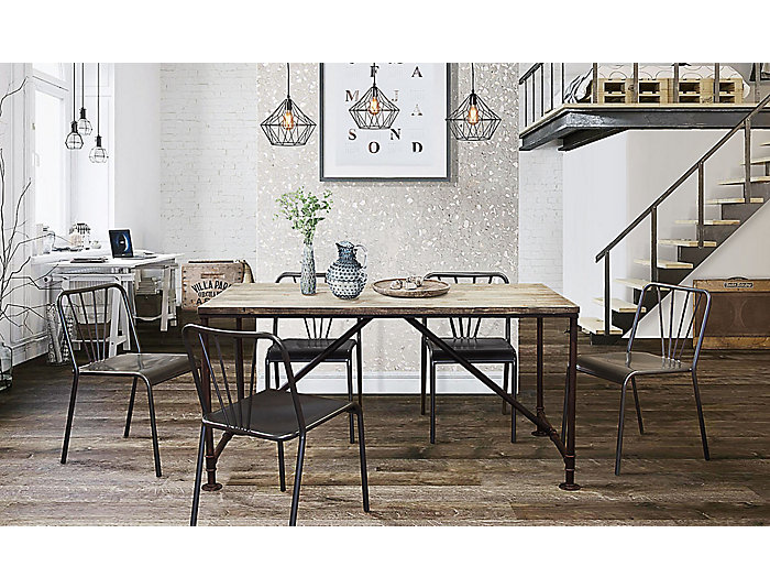 Portland Grey Dining Table, , large