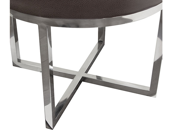 Ritz Round Accent Stool, Grey, , large