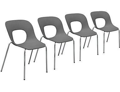 Spot Chair (Set of 4), Grey, , large
