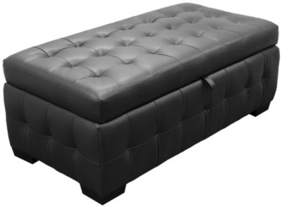 Zen Lift Top Storage Ottoman, Black, Swatch ...