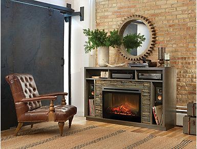 Brock Anthracite Media Fireplace, , large