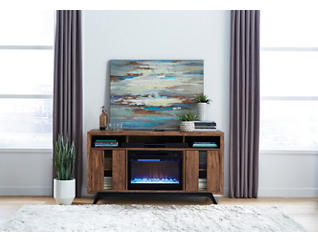 Luna Walnut Fireplace, , large
