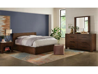Cascade Queen 1 Side Storage Bed, , large