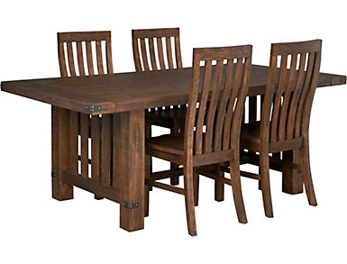 Everett Dining Table and Four Side Chairs, , large