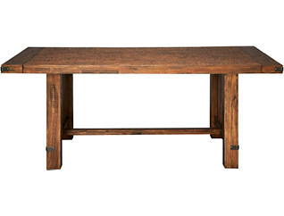 Everett Weathered Light Dining Table, , large
