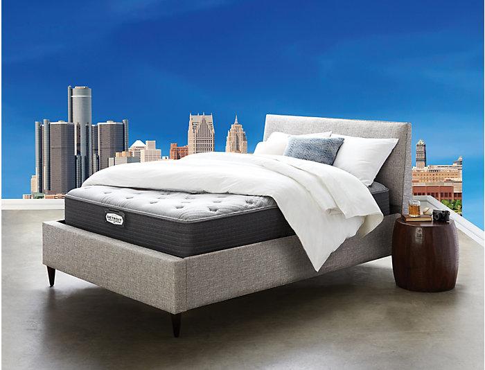 Detroit Mattress Co. Cobo Plush EuroTop Full Extra Long Mattress   Foundation Set, , large