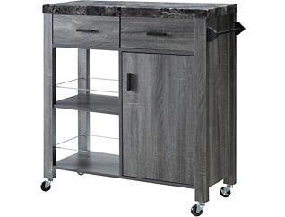 Grey Kitchen Cart, , large