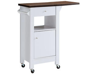 White Kitchen Cart, , large