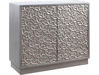 Embossed Flower Accent Cabinet, , large