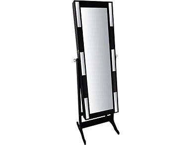 Mirrored Jewelry Cabinet, , large
