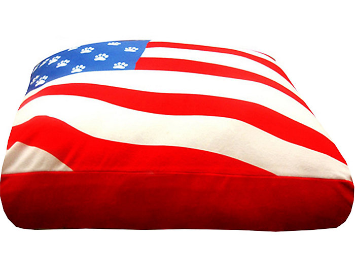 Usa Flag Pet Bed Medium Red Large