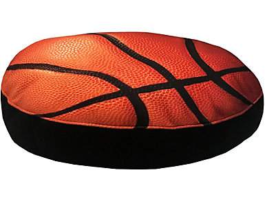 Basketball Pet Bed - Small, Orange, , large