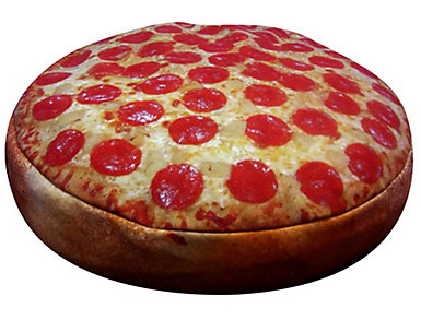 Pizza Pet Bed - Small, Orange, , large