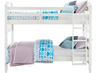 Vivienne Twin White Bunk Bed, , large