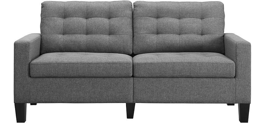 Eva Grey Tufted Sofa
