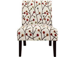 Reston Floral Armless Chair, , large