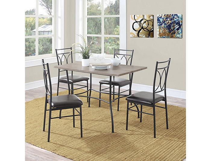 Madi 5 Piece Metal Dining Set, , large