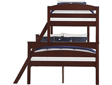Brady Twin over Full Brown Bunk Bed, Brown, large