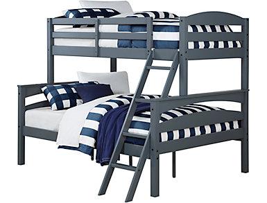 Brady Twin/Full Grey Bunk Bed, , large