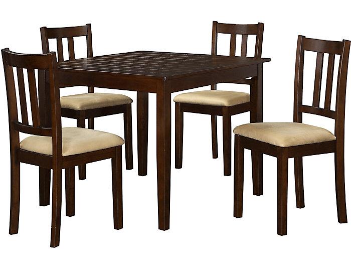 ... 5 Piece Espresso Dining Set, , Large ...