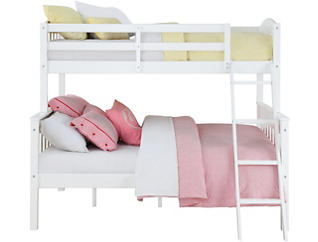 Airlie Twin over Full White Bunkbed, White, large