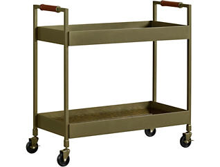 Ramona Brass Bar Cart, , large