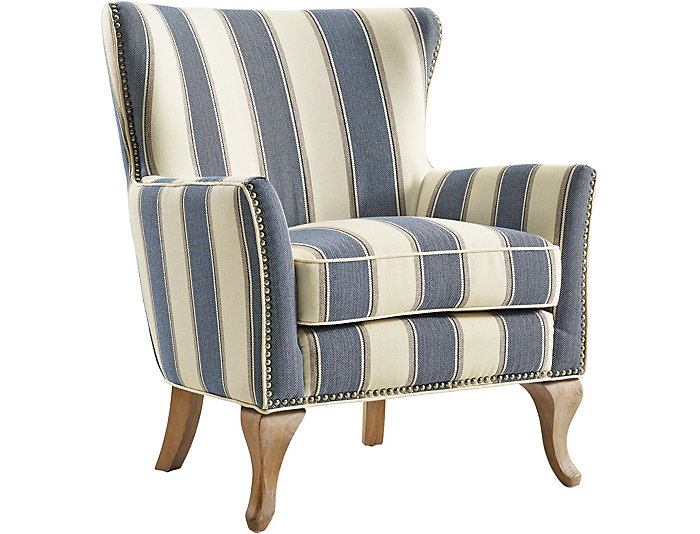 Genial ... Monroe Blue Striped Chair, , Large ...