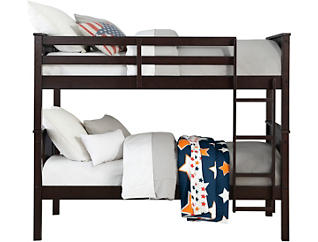 Dylan Twin Espresso Bunk Bed, Brown, large