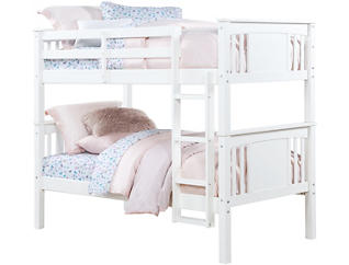 Dylan Twin White Bunk Bed, , large