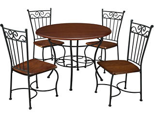 Siren 5 Piece Metal Dining Set, , large