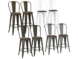 Incredible Luxor 30 Bar Stool Set Of 2 Art Van Home Ocoug Best Dining Table And Chair Ideas Images Ocougorg