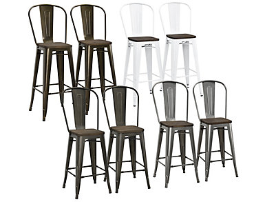 Astounding Luxor Counter Stool Set Of 2 Art Van Home Gmtry Best Dining Table And Chair Ideas Images Gmtryco