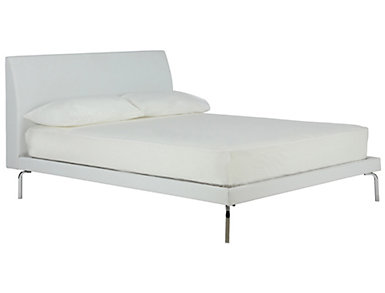 Wilshire Queen White Bed, , large