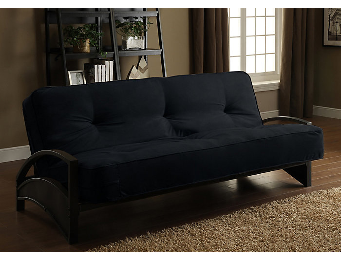 Alessa Black Sofa Futon Set, , large