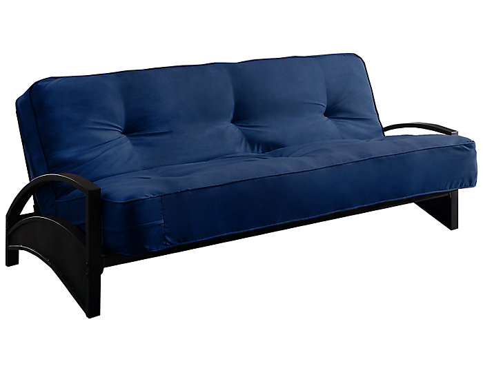 Alessa Cobalt Sofa Futon Set, , large