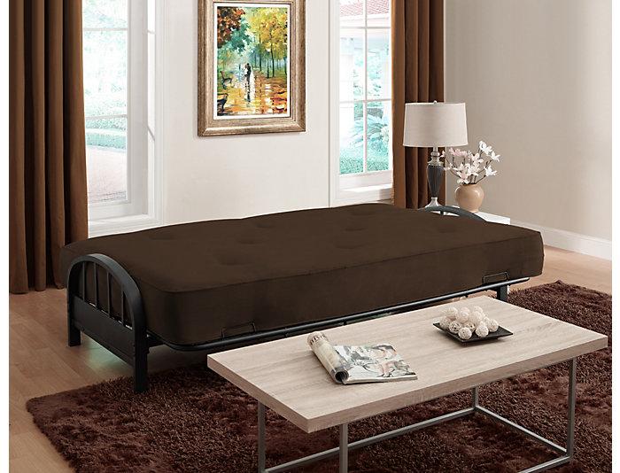 Aiden Brown Sofa Futon Set, , large