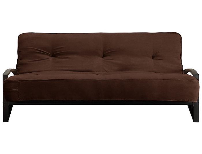 Alessa Brown Sofa Futon Set, , large